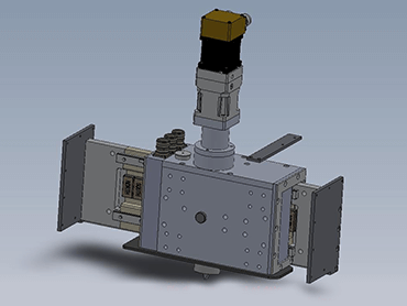 Render of CNC Over the Wheel Dresser - view 2